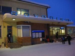 ロヴァニエミ駅裏口