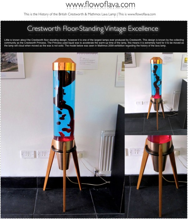 The History of the Astro Lamp Crestworth Floor Standing