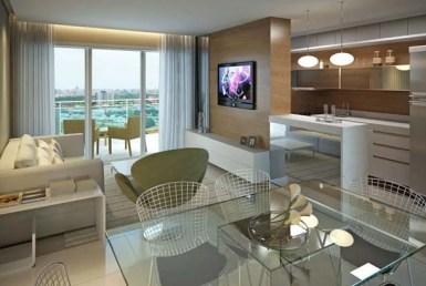 Aquamarine Residence, Apartamento na Ponta D'areia, 2 suítes, 2 vagas, Vista Mar 9