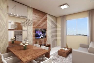 Condomínio Plaza das Flores III, apartamentos com 2 quartos, 46m², na Estrada de Ribamar. 7