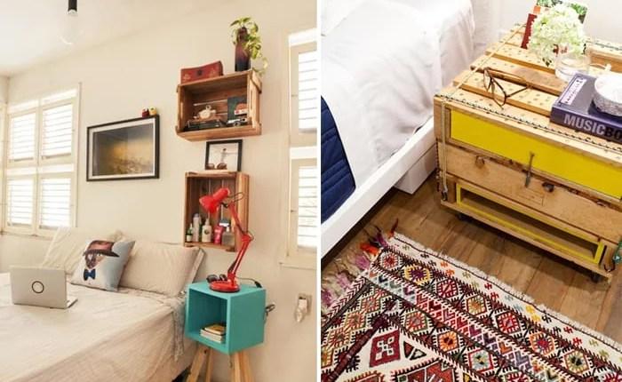 Modelos diferentes e ousados de criado-mudo para se inspirar na decoração do seu quarto