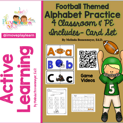 Football Themed ALPHABET PRACTICE for Classroom & PE