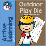 Outdoor play dice makes movement fun.