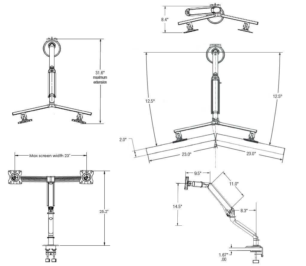 Tempo Dual-Screen Monitor Arm (DISCONTINUED)