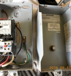 electric motor starter siemens model sxl1b4218a85288 nema size 0 used about 80 condition shipping dimensions 11 15 inches long by 5 5 inches wide by  [ 1064 x 796 Pixel ]