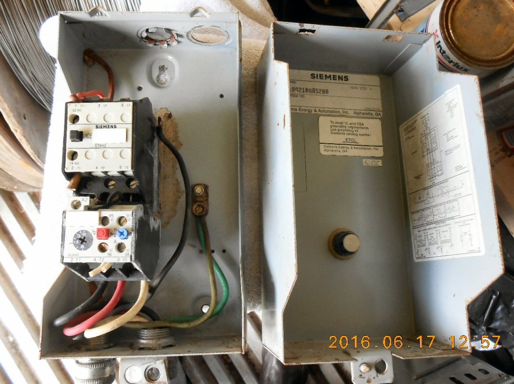 medium resolution of electric motor starter siemens model sxl1b4218a85288 nema size 0 used about 80 condition shipping dimensions 11 15 inches long by 5 5 inches wide by