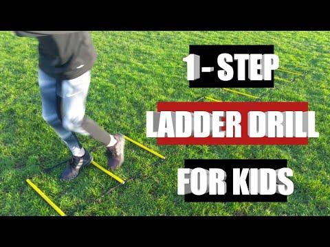 1 Step ladder drill, kids, youth, SAQ speed, agility, quickness footwork & fitness drill