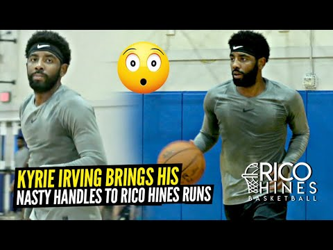 Kyrie Irving Shows Off His NASTY HANDLES at Rico Hines Private Runs!