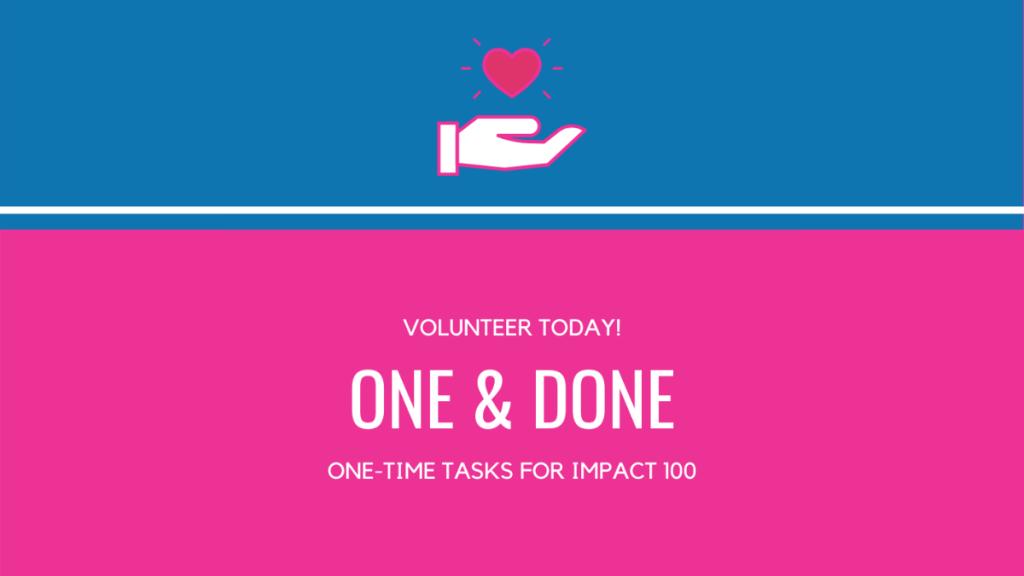 One & Done volunteering