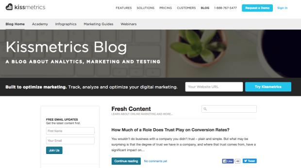 kissmetrics Blog.png?t=1505932326404&width=789&name=kissmetrics Blog - 10 Examples of Business Blogs that Rock