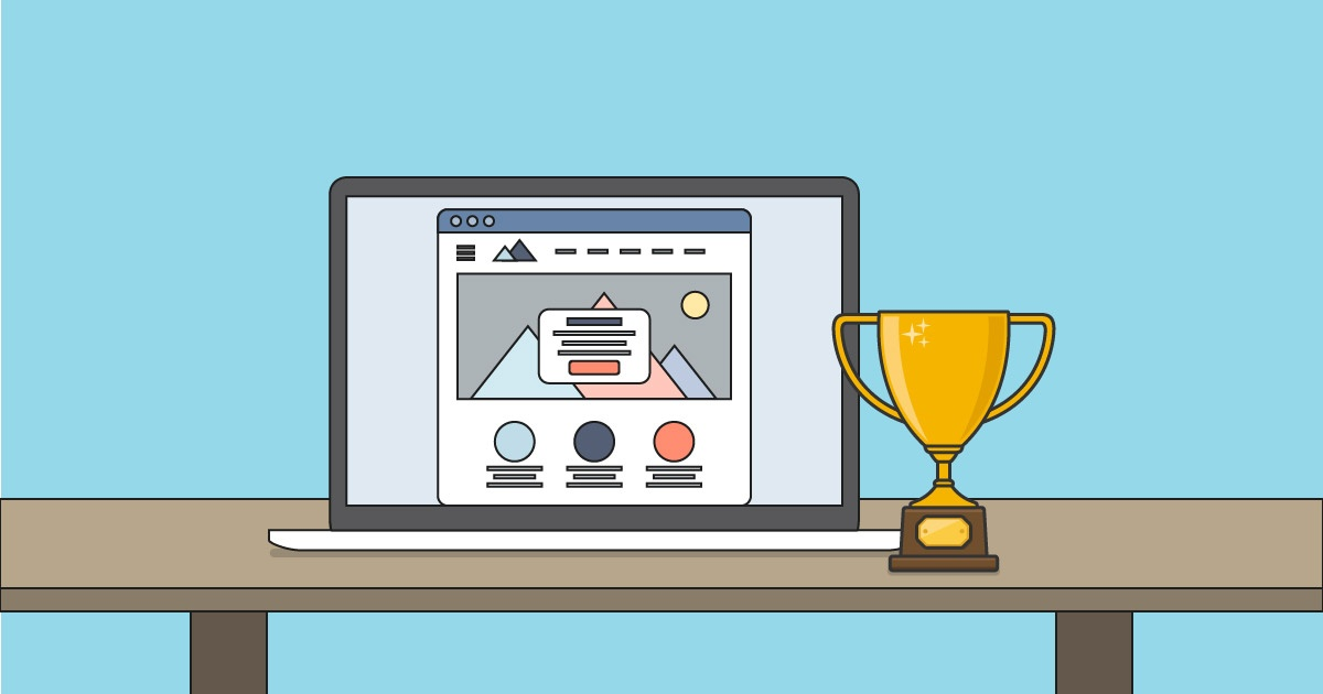 21 award winning website