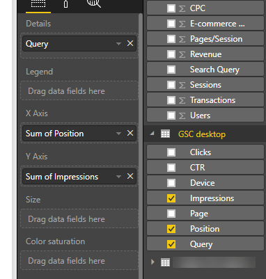 Power BI SEO screenshot