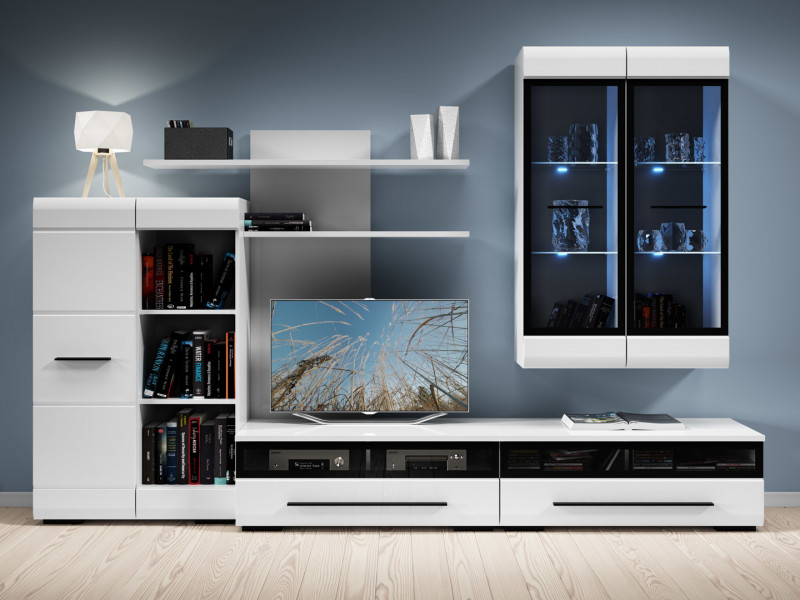 white gloss living room furniture corner units for modern set fever or oak impact