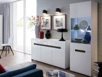 Modern Living Room Furniture Set Cabinet Sideboard White ...