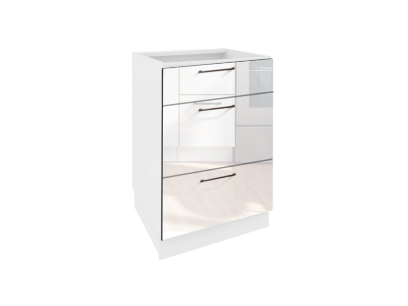 kitchen cabinet unit sinks with drainboards modern free standing white gloss base 40cm cupboard roxi d40 s