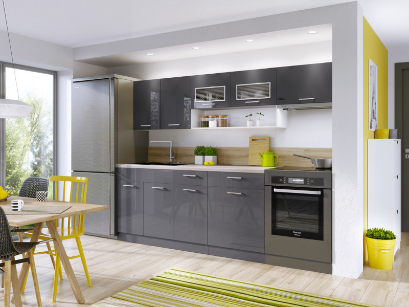 kitchen cabinets set under the cabinet tv for free standing white grey gloss cupboards 6 units impact furniture