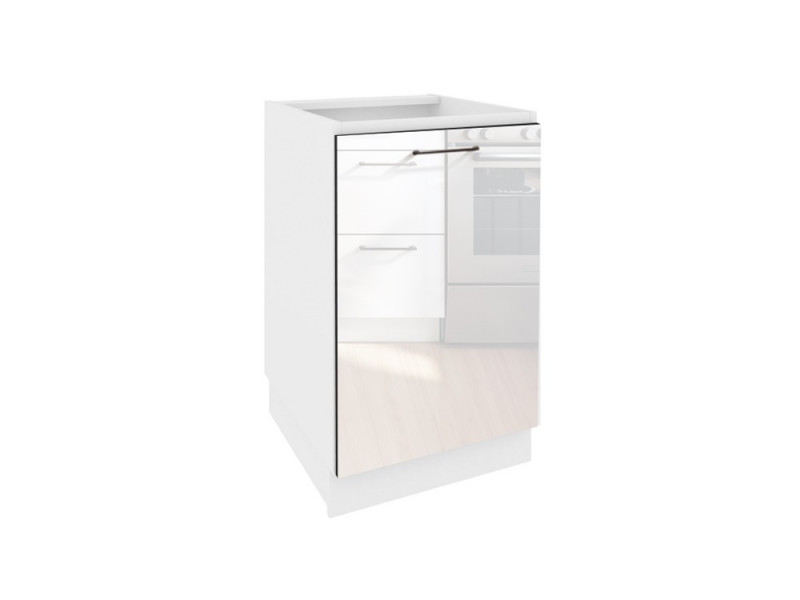 kitchen cabinet unit narrow tables modern free standing white gloss bottom 60cm cupboard base roxi d60 p