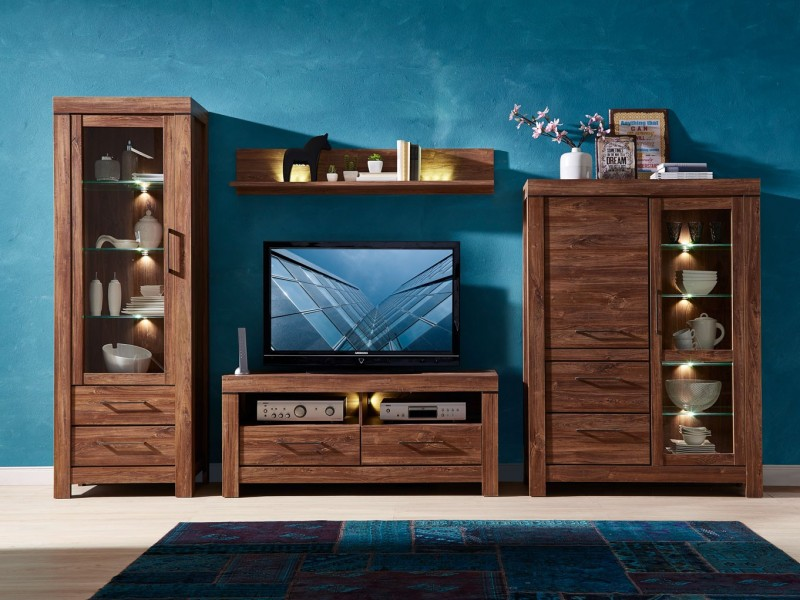 modern light oak living room furniture wall design for philippines set finish package with led lights impact