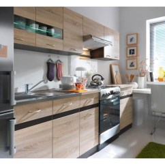 Kitchen Cabinets Set Copper Lighting Modern Free Standing Light Oak Cupboards 7 Units Impact Furniture