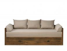 shabby chic sofa bed uk modern black set frames furniture impact converts into king size white wash pine or oak finish