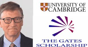 Bill Gates Sponsored Scholarship Foundation for Full-Time Postgraduate Degree at University of Cambridge in UK 2020
