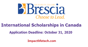 Brescia University College International Scholarships in Canada