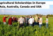 Agricultural Scholarships In Europe, Asia Australia, Canada and USA