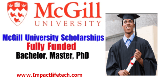 International Students Scholarship at McGill University in Canada