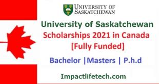 Full Scholarships at University of Saskatchewan in Canada