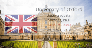 Full UCAS University of Oxford Scholarships Programme in UK