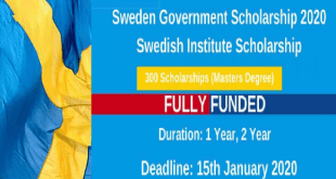 Global Master's Scholarship at Karolinska Institutet in Sweden