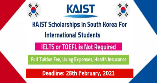 Fully Funded KAIST University Scholarship in South Korea