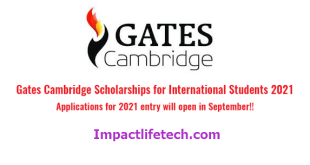 Fully Funded Gates Cambridge Scholarship in UK 2021