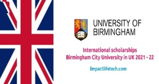 University of Birmingham Scholarships in UK 2021