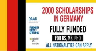 Fully Funded 2000 Scholarships in Germany 2021
