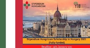 Stipendium Hungricum Scholarship in Hungary 2021