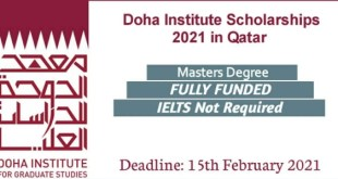 Fully Funded Doha Institute For Graduate Studies Scholarship 2021