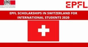 Fully Funded EPFL Summer Internship in Switzerland 2021