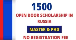 Fully Funded 15,000 Russian Government Scholarship 2021
