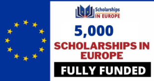 Fully Funded 5000 Scholarships in Europe 2021