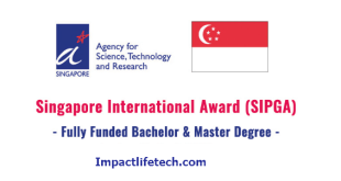 Singapore Scholarship for International Students
