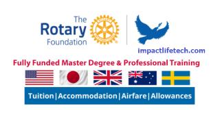 Rotary Peace Scholarship