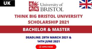 Think Big Scholarship at Bristol University