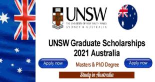 International Graduate Scholarship at the University of New South Wales Australia