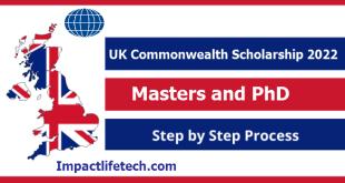 UK Government Commonwealth Scholarship 2022