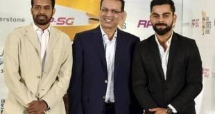 National Badminton coach Pullela Gopichand, Sanjiv Goenka, Indian cricket team skipper Virat Kohli