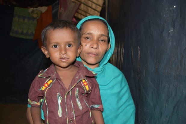 Rokeya Begum, who lost her husband while fleeing into Bangladesh from Myanmar. She does not his whereabouts [image: Zobaidur Rahman]