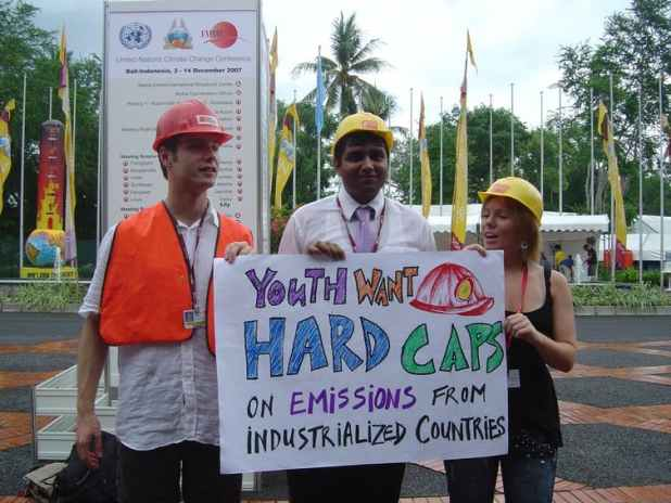 Calls for 'hard caps' on emissions at the UN climate conference in Bali, 2007. [Source: OpenDemocracy, CC BY-SA]