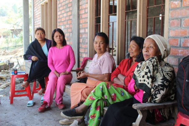 Women farmers gather in Saidan village [image by: Ninglun Hanghal]
