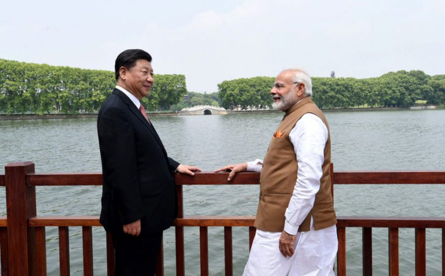 Indian Prime Minister Narendra Modi Chinese President Xi Jinping along the East Lake, in Wuhan, China on April 28, 2018. (Photo: Press Information Bureau, Government of India)
